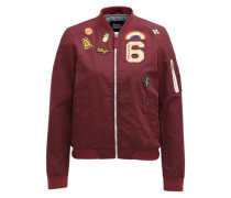 Jacke 'nauru With Badges' bordeaux