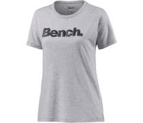 T-Shirt Damen anthrazit / graumeliert