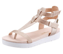 Sandale mit Schmucksteinen creme / champagner