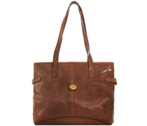 Story Donna Shopper Tasche Leder 37 cm braun