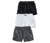 Weiter Boxer (3 Stück) grau / schwarz / weiß