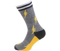 ein Paar Socken gelb / grau / schwarz