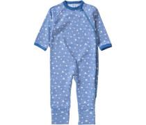 Organic Cotton Baby Schlafanzug für Jungen blau / rauchblau / himmelblau