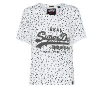 T-Shirt 'vintage Logo Boxy' schwarz / weiß