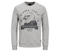 Print Sweatshirt grau / anthrazit