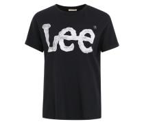 T-Shirt 'Logo Tee' schwarz