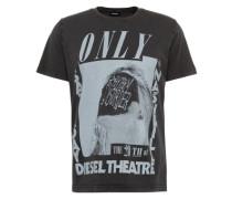 T-Shirt 't-Joe-Qe' grau / schwarz