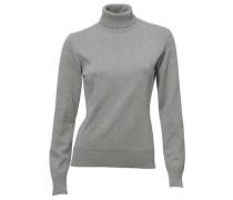Rollkragen-Pullover graumeliert