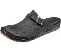 Komfort-Pantoletten schwarz