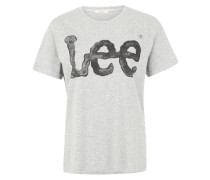 T-Shirt 'Logo Tee' grau