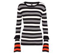 Pullover 'Stripe' schwarz / weiß