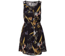 Kleid ohne Ärmel Print blau / orange / rosa / schwarz / weiß
