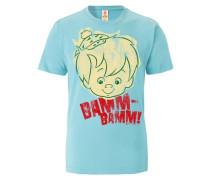 """T-Shirt """"Bamm Bamm"""" beige / türkis / grün / rot"""