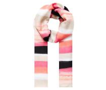 Streifenschal in Batik-Optik pink / weiß
