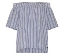 Offshoulder-Shirt 'Shoya' hellblau / weiß
