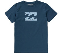 T-Shirt 'team Wave' blau
