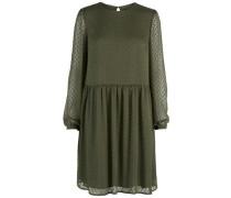 Struktur-Kleid oliv