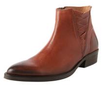 Boots mit Flecht-Detail 'Sfbibi' cognac