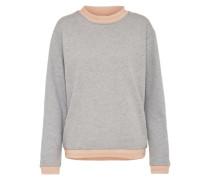 Pullover 'vmisabella LS RIB Stripe Sweat' hellgrau / rosa