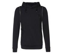 Kapuzen-Sweatshirt schwarz