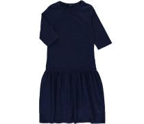 Kleid mit kurzen Ärmeln 'nitelina' blau