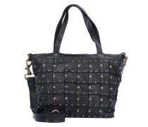 Rivetti Vacch Handtasche Leder 26 cm schwarz