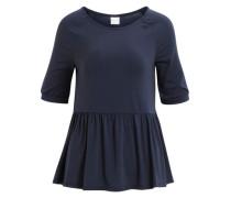 Peplum-Bluse mit 2/4 Ärmeln blau