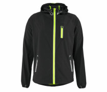 Trainingsjacke 'sports Active Flash RUN Shell' limette / schwarz