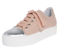 Sneaker 'Plateau' silber / nude