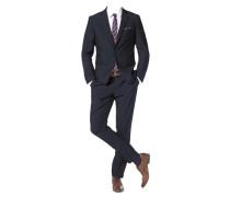 Anzug mit Krawatte und Einstecktuch (Set 4 tlg.) blau