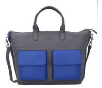 Business-Bag 'Toulouse 6' blau / dunkelgrau