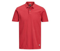 Pikee-Poloshirt rot