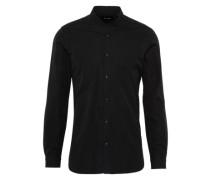 Cleanes Hemd mit Totenköpfen schwarz