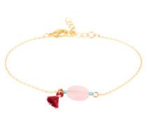 Armkette mit Steinen gold / rosa