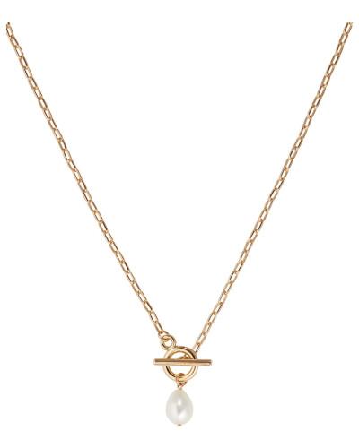 Halskette mit Süßwasserperle gold