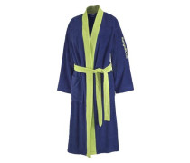 Bademantel 'Toni' blau / hellgrün