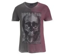 T-Shirt anthrazit / weinrot