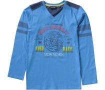Langarmshirt blau / dunkelblau / dunkelgelb / rot / weiß