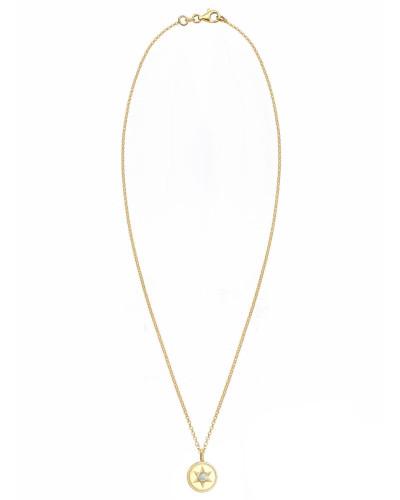 Halskette 'Stern' gold / weiß