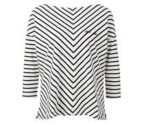 Boxy-Shirt mit Diagonalstreifen