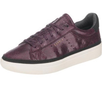 Lizette Lace Up Sneakers aubergine