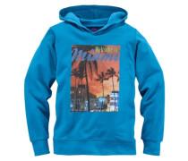 "Kapuzensweatshirt ""Miami"" blau"