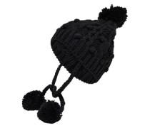 Gestrickter Hut schwarz