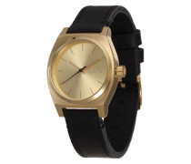 Armbanduhr 'Medium Time Teller' gold / schwarz