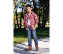 ARIZONA Jeans mit farbigem Umschlag, Regular fit, für Jungen blau