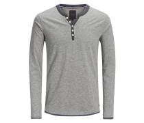 Klassisches T-Shirt mit langen Ärmeln grau