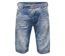Slim-Fit-Jeansshorts 'Kroshort' hellblau