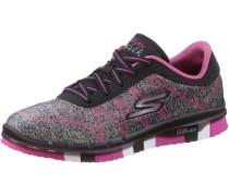 Sneaker graumeliert / pink / schwarz