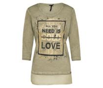 Shirt 'need v-neck' khaki