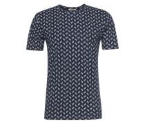 Bedrucktes T-Shirt dunkelblau